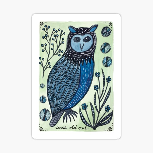 Wise Old Owl Sticker