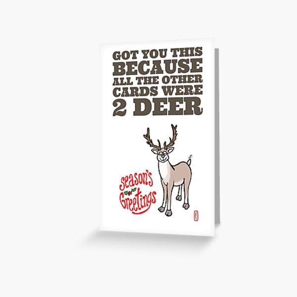 SEASON'S GREETINGS - Two Deer Greeting Card