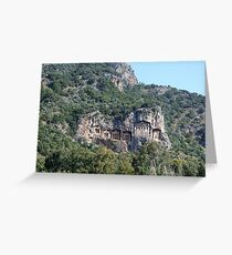 The Weathered Façades Of Lycian Tombs Greeting Card