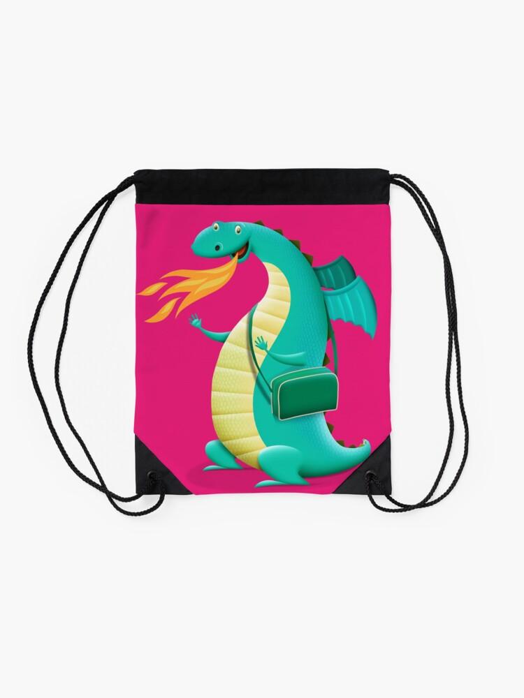 Alternate view of Sunshine Dragon Drawstring Bag