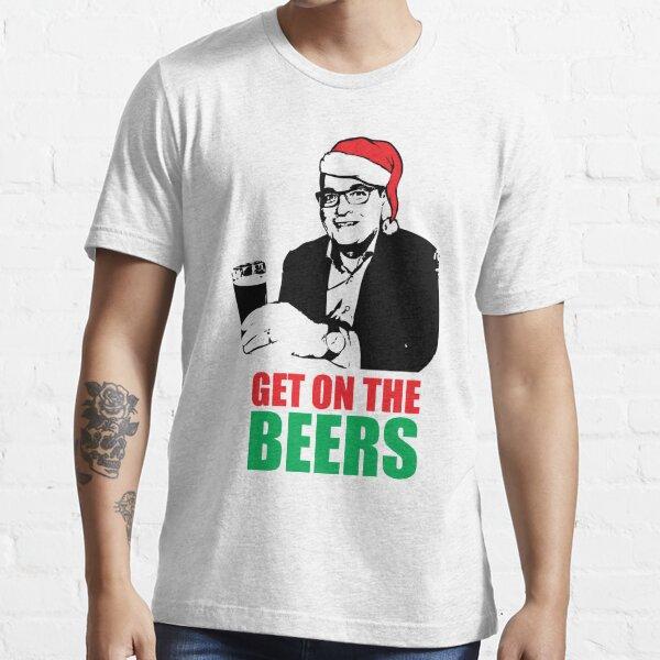Dan Andrews Get on the Beers Christmas Santa Essential T-Shirt