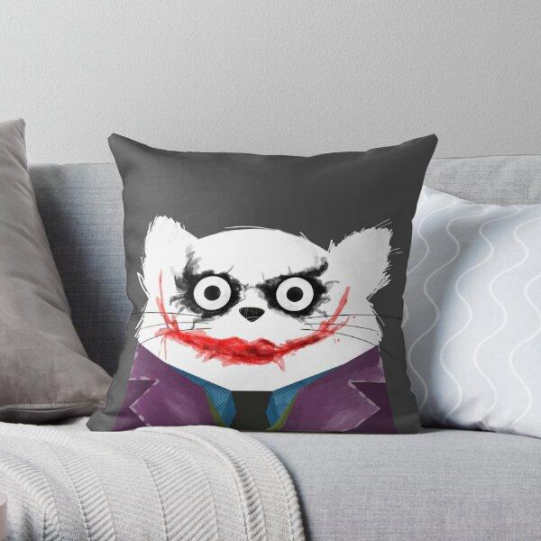 Cat Joker  Throw Pillow