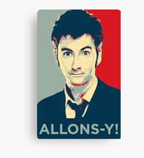 Tenth Doctor - Allons-y Canvas Print
