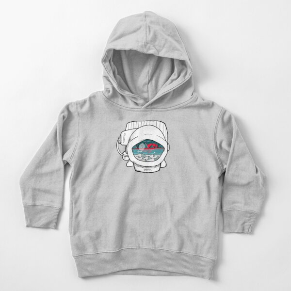 space ranger at bright sunset in the galaxy white Toddler Pullover Hoodie