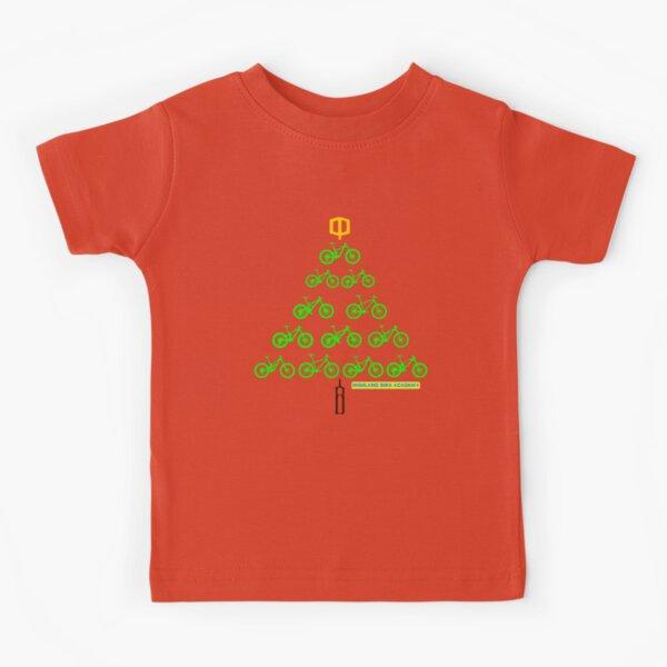 Bike Christmas Tree Kids T-Shirt