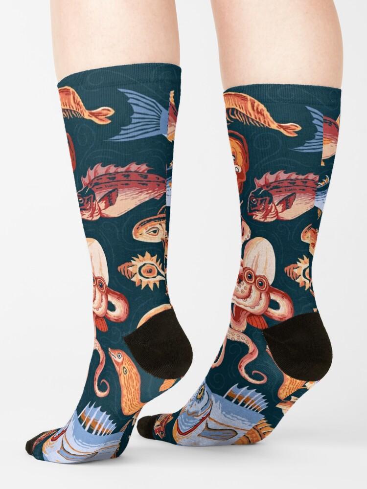 Alternate view of Pompeii Marine Mosaic  Socks