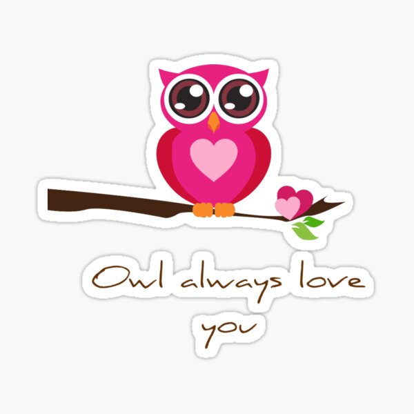Owl alwayu love you (Owl pictures) Sticker