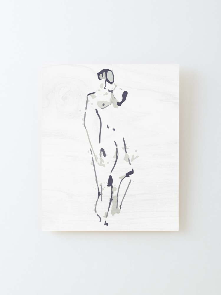 Alternate view of Standing Figure Mounted Print