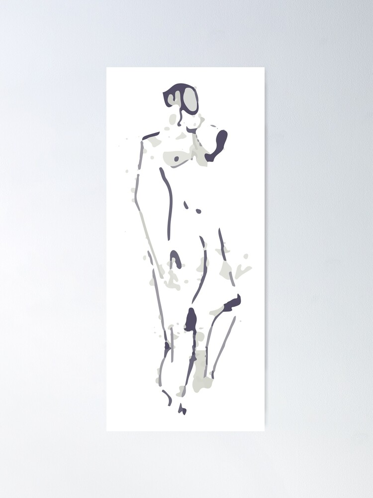Alternate view of Standing Figure Poster