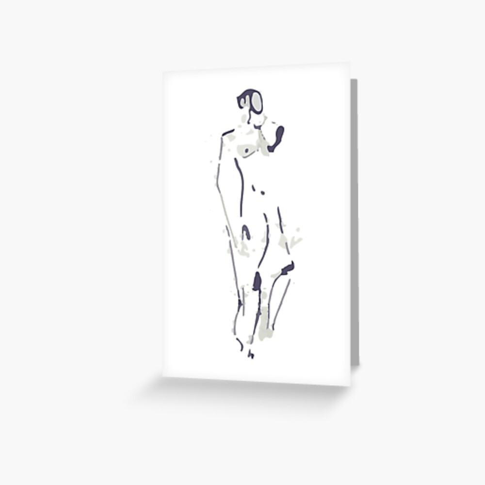 Standing Figure Greeting Card