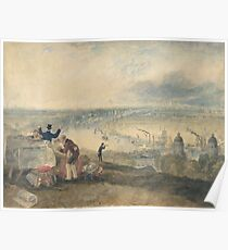 Joseph Mallord William Turner Paintings, View of London from Greenwich,  Poster