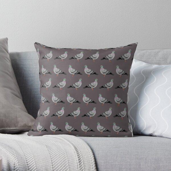 Pigeon walk Throw Pillow