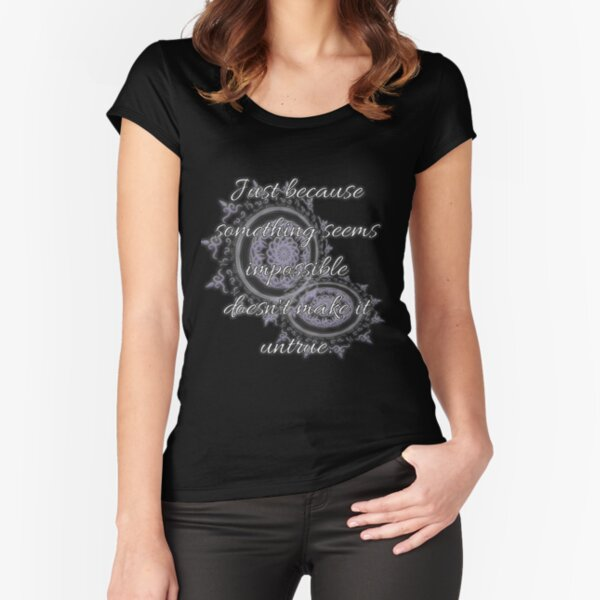 A discovery of witches | Emotional Support Quotes Fitted Scoop T-Shirt