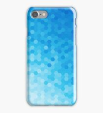 Blue Tones Hexagonal Pattern iPhone Case/Skin