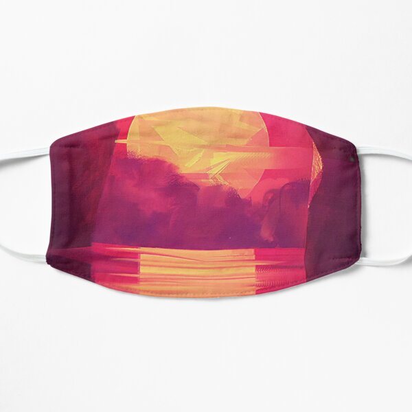Purple Sky Sunset Flat Mask