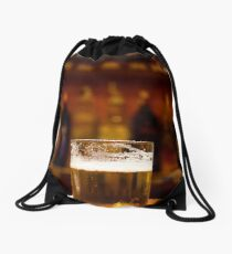 A drink with friends Drawstring Bag