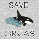 Save Orcas T-shirt, Hoodie, Sticker, Phone Cases, Tablet Cases, Pillows and More by Kgphotographics