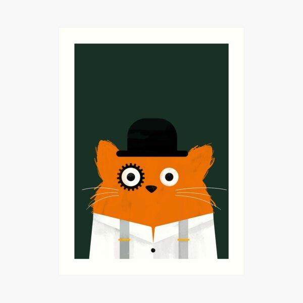 Cat Orange  Art Print