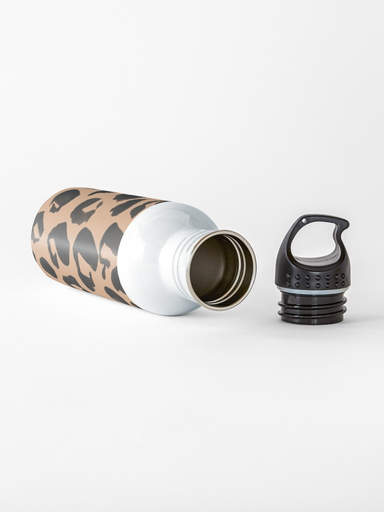 Alternate view of Leopard Print, Brown and Black and Tan Leopard Water Bottle