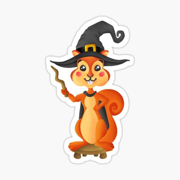 Cute Wizard Squirrel Sticker