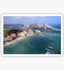 Approaching Miami Beach Sticker