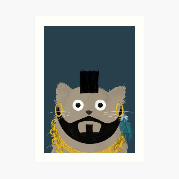 Cat MrT  Art Print