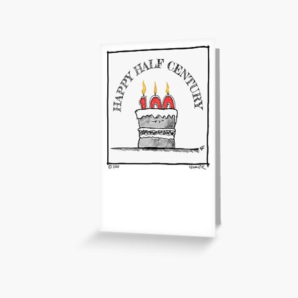 'Happy Half Century' (50th) Birthday card Greeting Card
