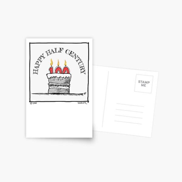 'Happy Half Century' (50th) Birthday card Postcard
