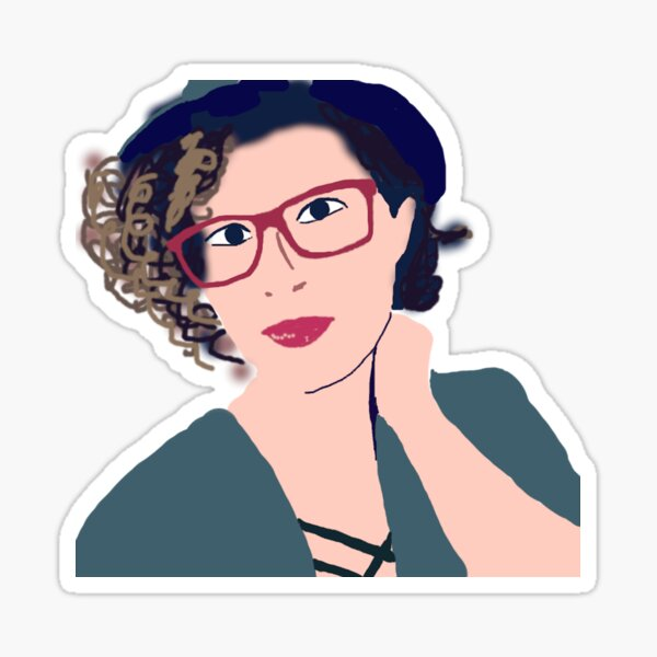 Red Glasses - Character Sticker