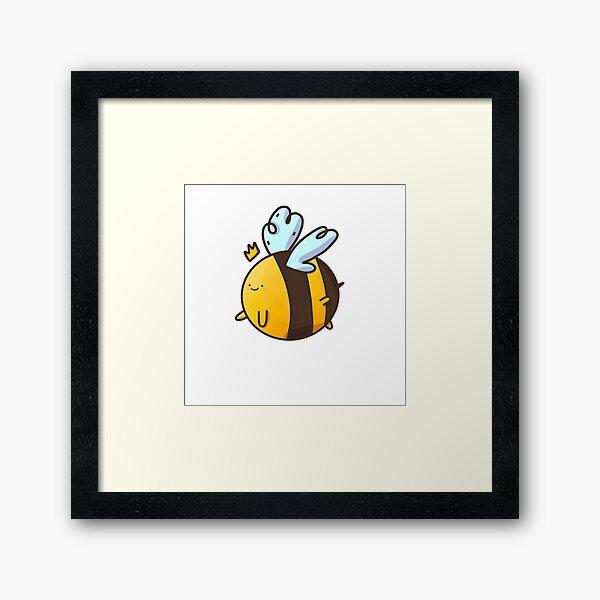 Lil abeille mignonne Impression encadrée