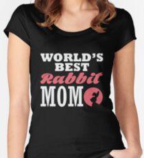 World's best rabbit mom Tailliertes Rundhals-Shirt