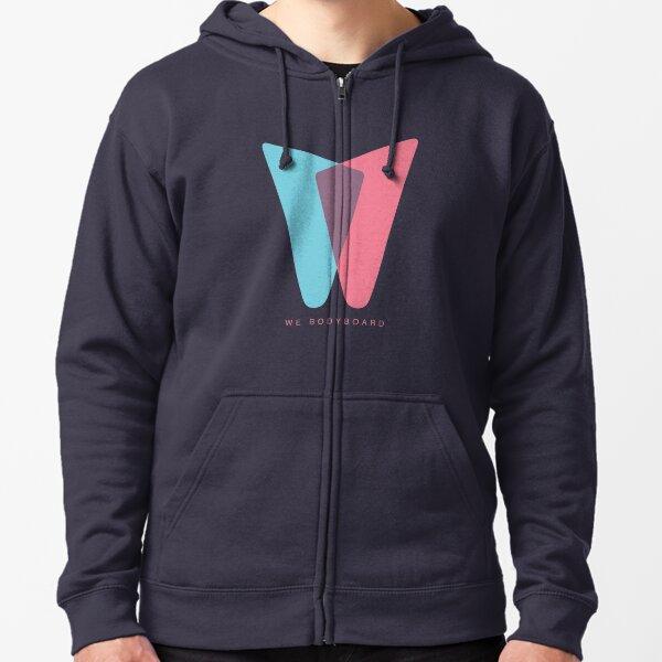 We Bodyboard // The Logo Design Zipped Hoodie
