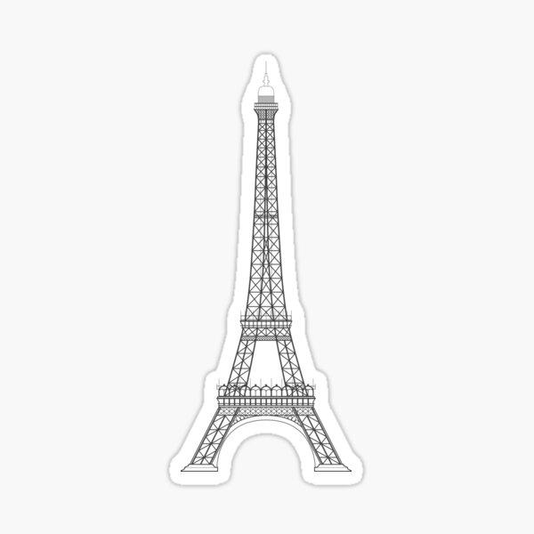 Eiffel Tower Paris Illustration  Sticker