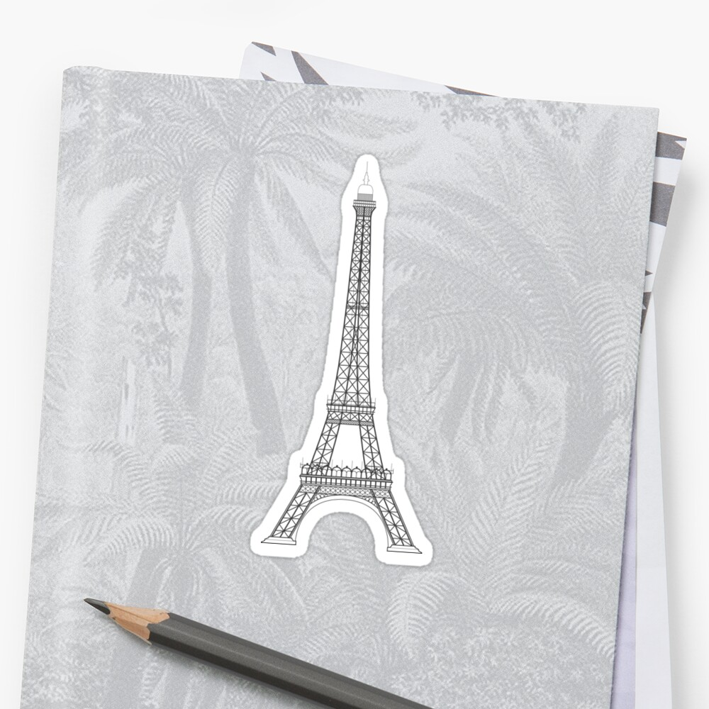 Eiffel Tower Paris Illustration by JHMimaging