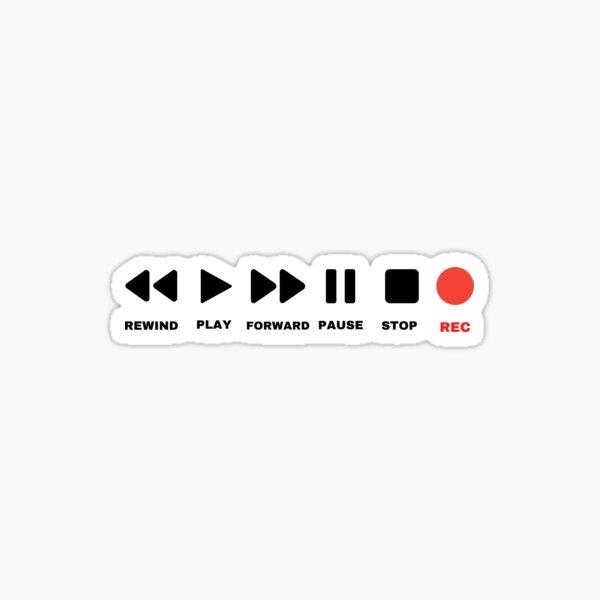 Retro Button  Sticker