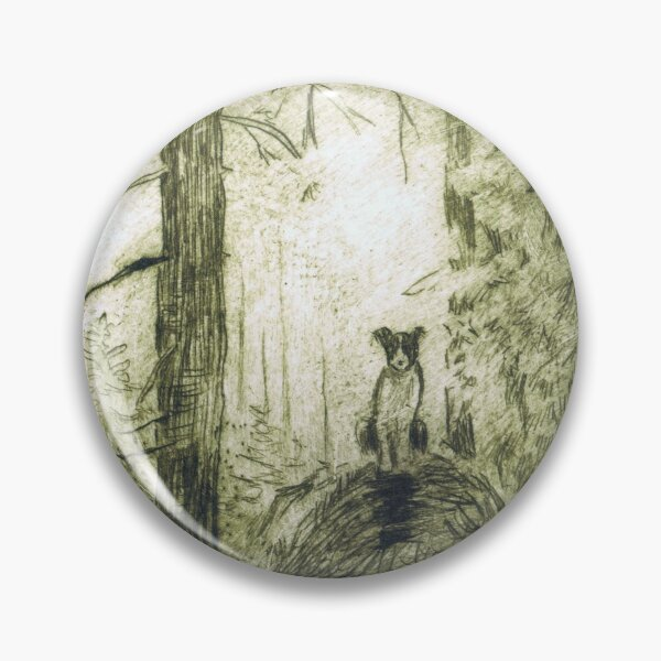 Dog in the woods Pin