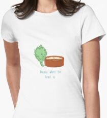 Hummus Where The Heart Is.  Women's Fitted T-Shirt