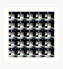 That's Enough Geometric Repeating Surface Pattern by Jenny Meehan Art Print
