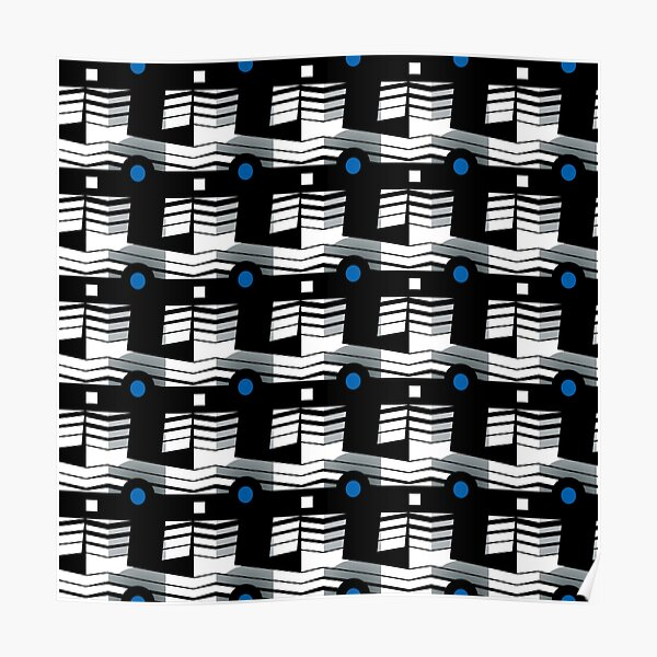 That's Enough Geometric Repeating Surface Pattern by Jenny Meehan Poster