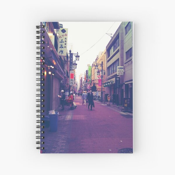 Walking Through The Streets Spiral Notebook