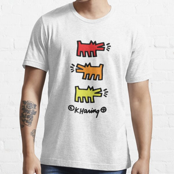 Keith Haring 3 Barking Dogs Essential T-Shirt