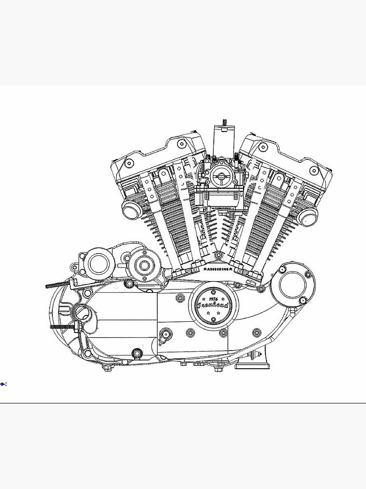V Twin Engine Model