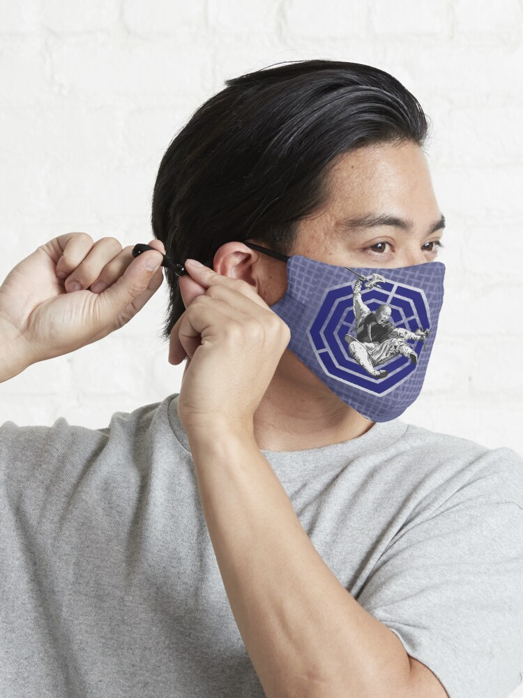 Alternate view of Bagua Monk in Blue Mask