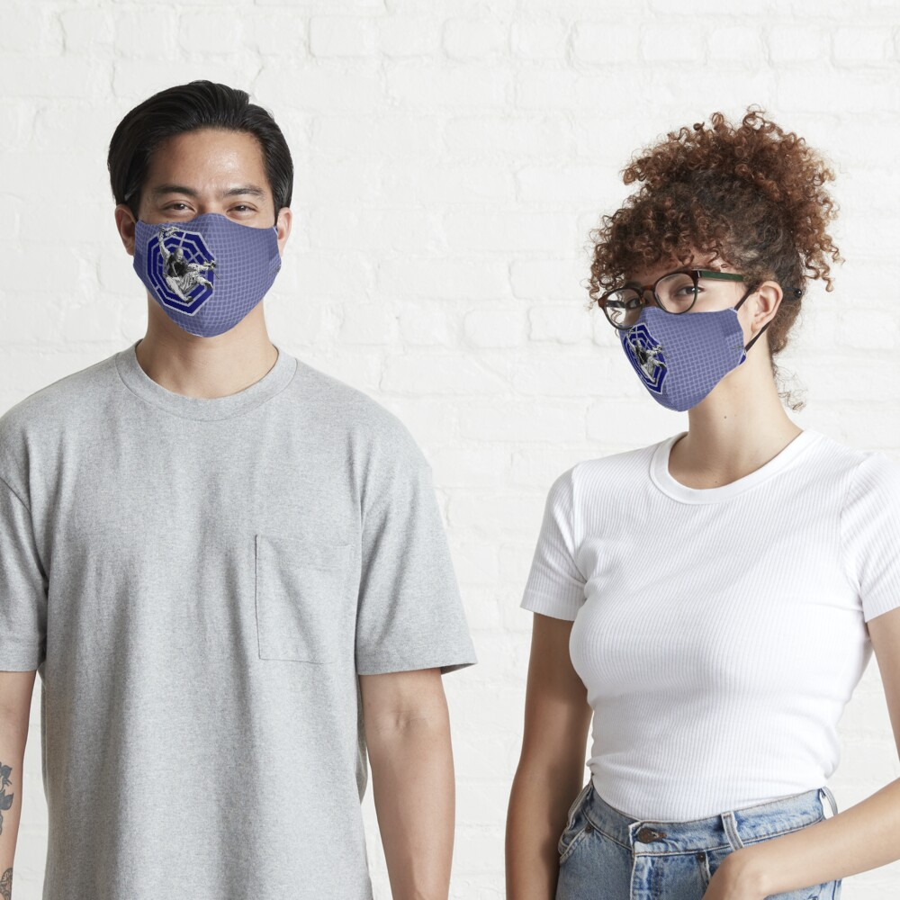 Bagua Monk in Blue Mask