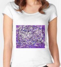 Farbexplosion Tailliertes Rundhals-Shirt