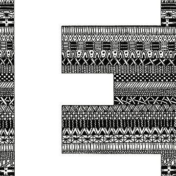 Letter E Patterns by Alabaster-Ink