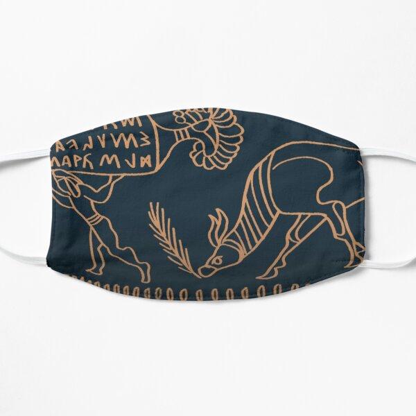 Etruscan Bucchero Pottery Flat Mask