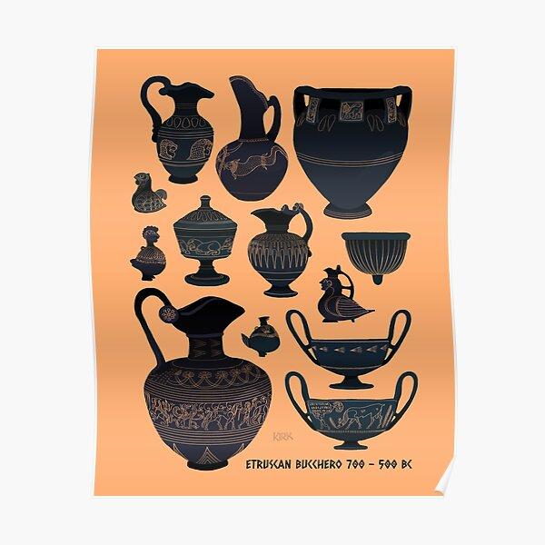 Etruscan Bucchero Pottery Poster
