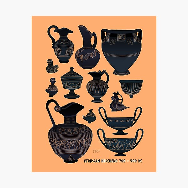 Etruscan Bucchero Pottery Photographic Print
