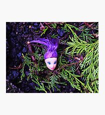 Purple Haired Decapitated Doll  Photographic Print